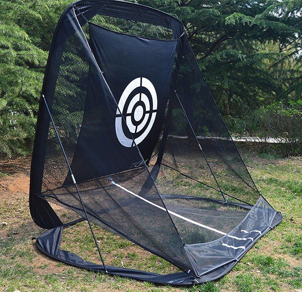 amazon com golf practice hitting net cage auto ball return