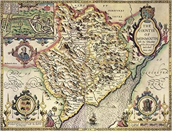 OLD COUNTY MAP OF WILTSHIRE 1611 BY JOHN SPEED