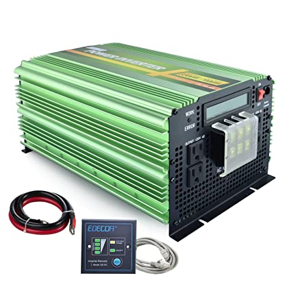 Amazon.com  EDECOA Pure Sine Wave Power Inverter 3500W DC 12V to AC ... c1e3e2a744