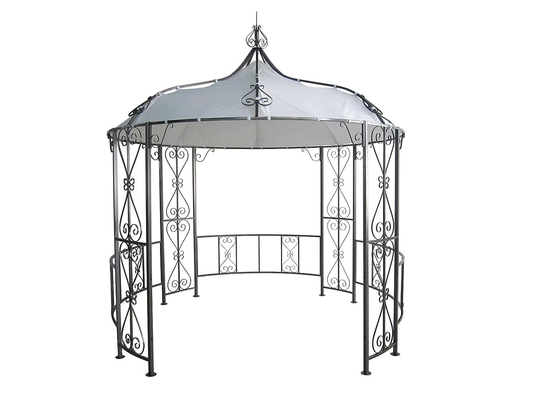 luxus pavillon 300cm rund stahlgestell dach wasserdicht weiss jetzt kaufen. Black Bedroom Furniture Sets. Home Design Ideas