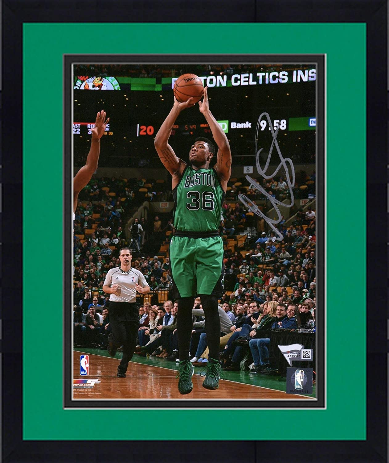 Framed Marcus Smart Boston Celtics Autographed 8' x 10' Green Jump Shot Photograph - Fanatics Authentic Certified