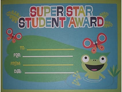 amazon com super star student award certificates butterflies