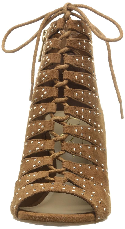 Jessica Simpson Frauen Barlett Offener Zeh Leder Leder Leder Pumps mit Keilabsatz 424eba