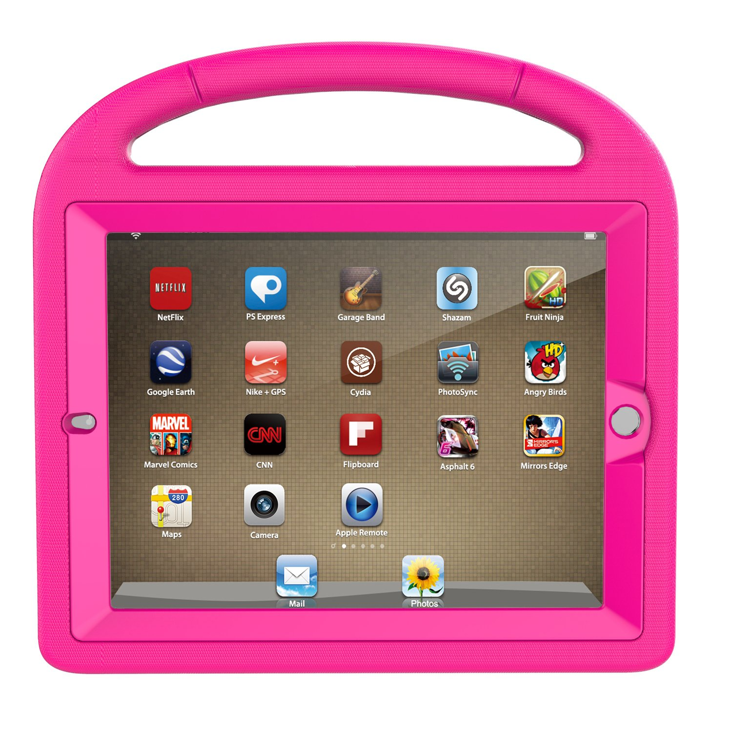 LTROP iPad 2 3 4 Kids Case - Light Weight Shock Proof Handle Friendly Convertible Stand Kids Case with Bulit in Screen Protector for iPad 2, iPad 3rd Generation, iPad 4th Generation,Rose by LTROP (Image #2)