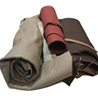 Leather Scraps: Sheets of Leather for Crafts. Various Sizes, Colors and Shapes. 2-5 Pieces per Pack - 2 Lbs