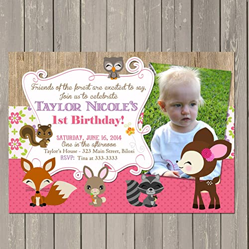 Image Unavailable Not Available For Color Woodland Birthday Invitation