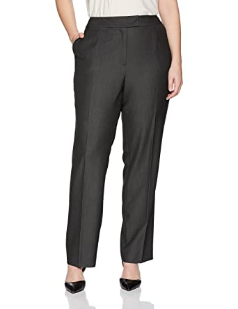 83eb71219b210 Tahari by Arthur S. Levine Women's Plus Size Dark Grey Tab Waist Band  Trouser at Amazon Women's Clothing store: