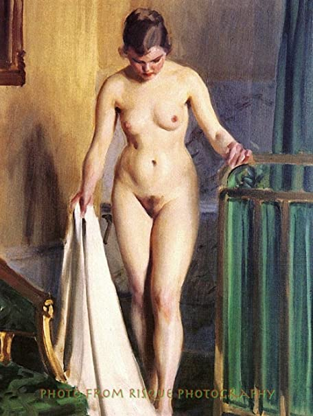 """8.5x11/"""" Photo Print Modern Naked Female Anders Zorn Nude Woman in the Bedroom"""