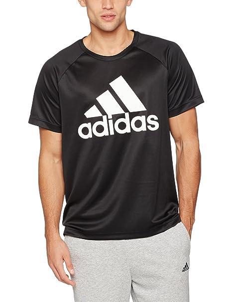 c524d18d4de11 Adidas Playera Adidas D2M Tee Logo Playera para Hombre Negro Talla L ...