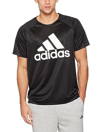 adidas Herren D2M T-Shirt, Black, S