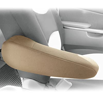 FH Group FH1051BEIGE FH1051 Armrest Cover Semi-Universal (Flat Cloth Fabric- One Pair Beige): Automotive