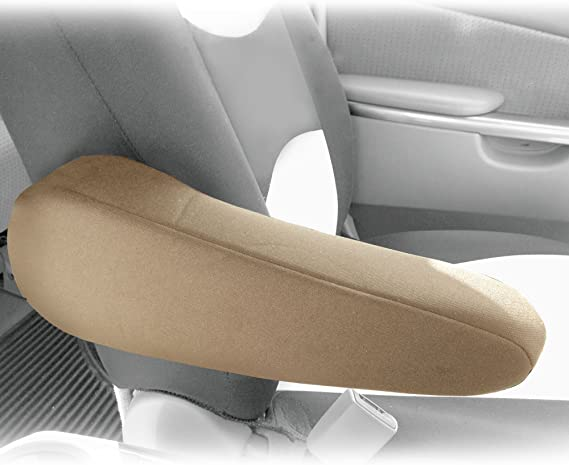Tan Premium Faux Leather Set of 2 FH Group FH1052TAN Armrest Cover Semi-Universal