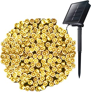 Outdoor Solar Christmas String Lights with 8 Lighting Modes, 72 Feet 200LED Waterproof Solar Powered Lights for Indoor Outside Xmas Patio Garden Yard Wedding Party Tent Tree Decor, Warm White, 1 Pack