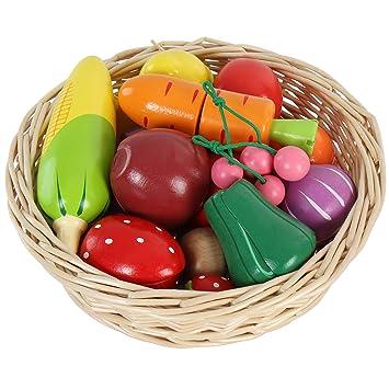 Infantastic - Juguete para cocina - Cesta con frutas y verduras (de ...