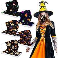 Sonnena 50PC Niños Ajustables Desechables Infantil Bufanda Moda Universal 3 Capa Elástico Bandanas para Halloween…
