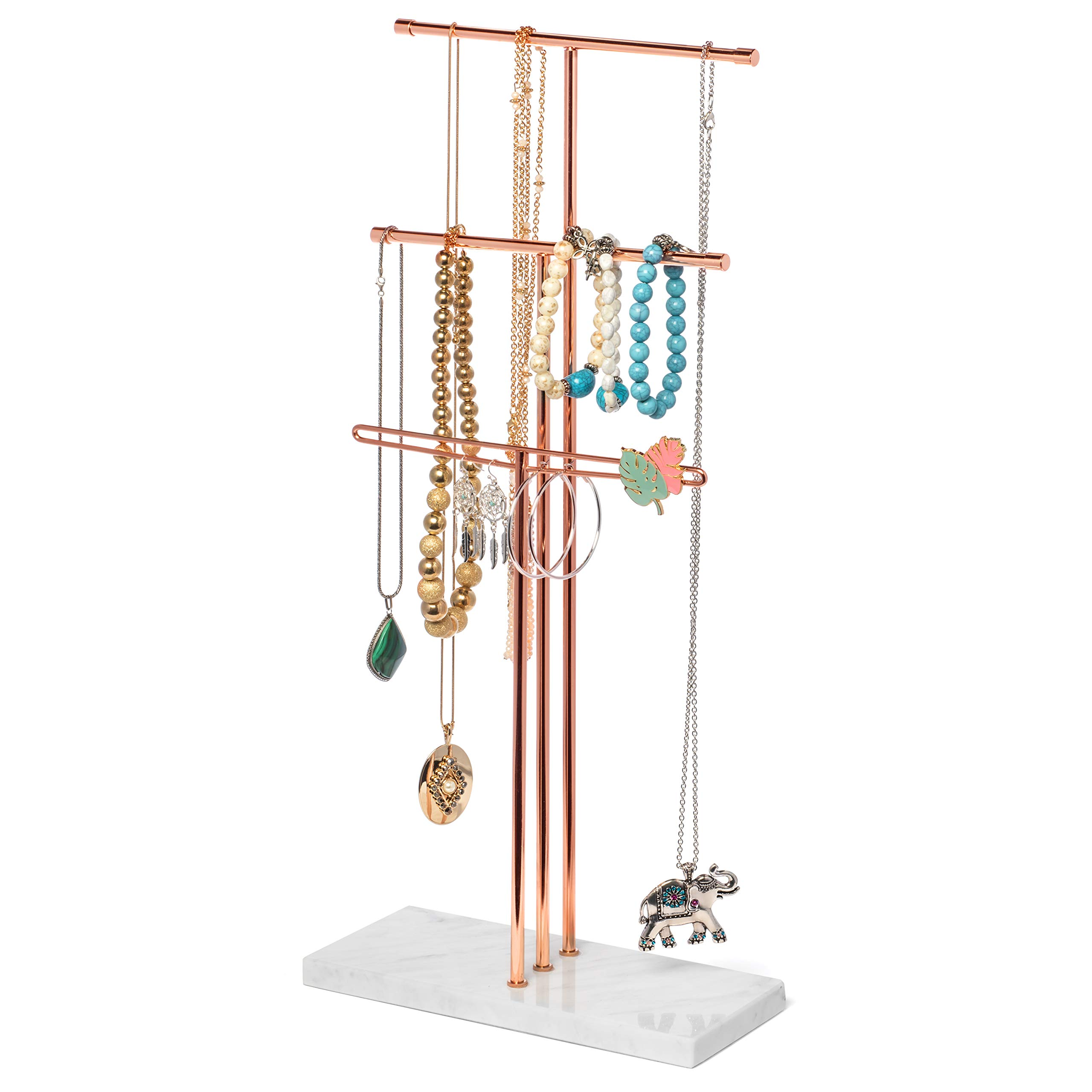 Delice N Delight Jewelry Stand Organizer - Perfect for Long Necklaces/Earrings/Bracelet Storage - Accessories Holder and Jewel Storage