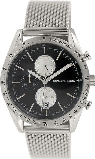 Michael Kors MK8387 42 mm de acero de plata de la pulsera y la de los hombres de la caja de reloj de Mineral: Amazon.es: Relojes