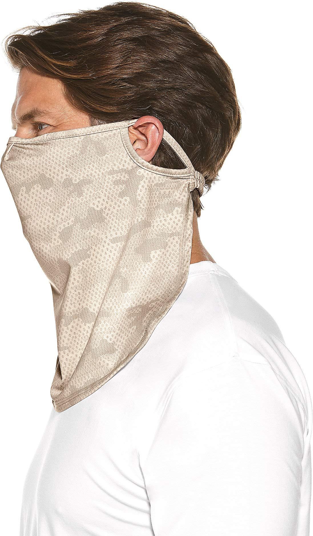 Coolibar UPF 50+ Unisex UV Face Mask - Sun Protective (Large/X-Large- Tan Coolibar Camo) by Coolibar (Image #2)