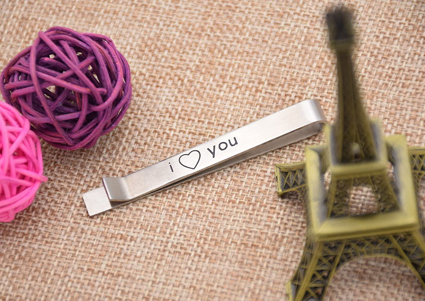 O.RIYA Gifts for Men Mens Groom Husband Tie Clip for Hi Forever and Always Gift Tie Clip Wedding Tie Bar