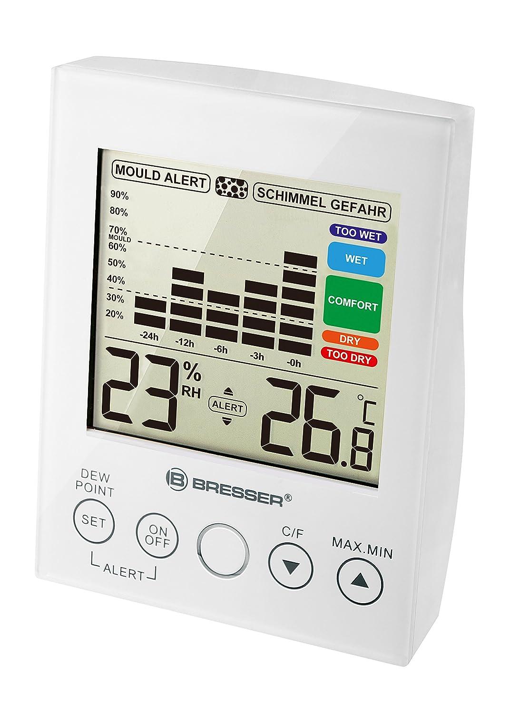Bresser Hygrometer mit Schimmelalarm, schwarz 7007410CM3000