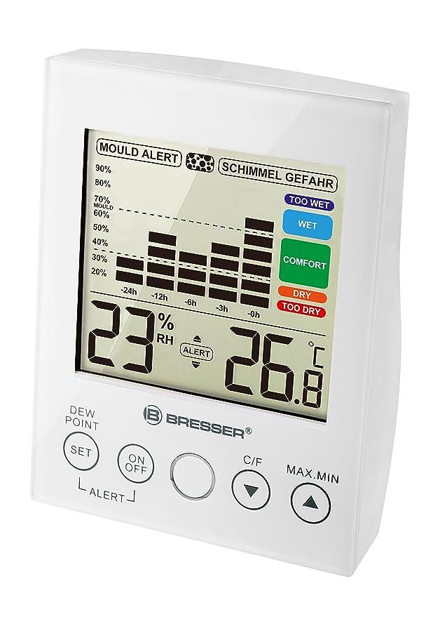 Bresser higrómetro termómetro con Moho Alarma: Amazon.es: Jardín