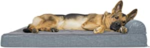 Furhaven Pet - Orthopedic Chaise Lounge, Full-Support Luxury Edition Sofa, Round Plush Calming Ball Dog Bed and More for Dogs and Cats - Multiple Styles, Colors, and Sizes