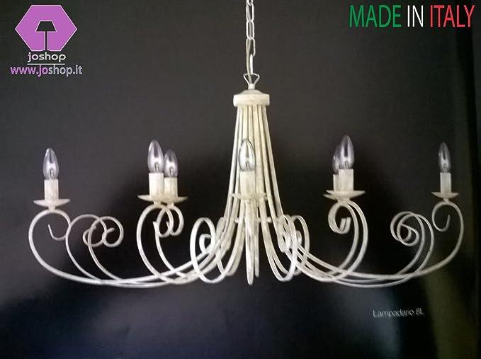 Lampadari In Ferro Battuto Bianco : Lampadari antichi arredamento mobili e accessori per la casa in
