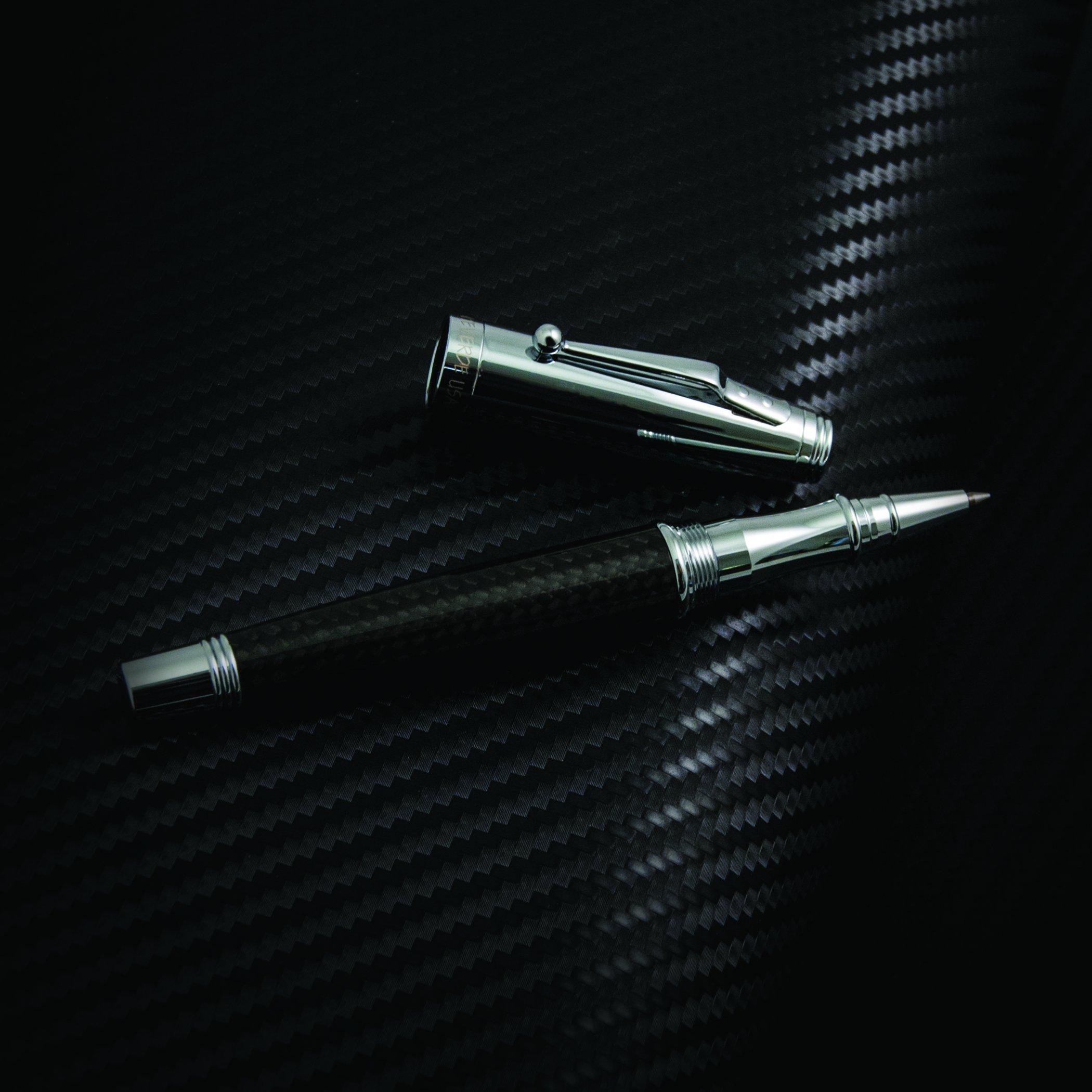 Monteverde Invincia Rollerball Pen, Chrome with Black Carbon Fiber (MV40064) by Monteverde (Image #8)