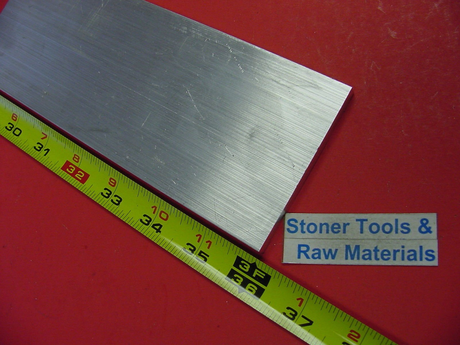 1/4'' X 3'' Aluminum Flat BAR 36'' Long +.07''/-0 6061 T6511 Plate Mill Stock. This is Extruded bar not Sanded or Polished and May Have Scratches from handling. by Stoner Metals