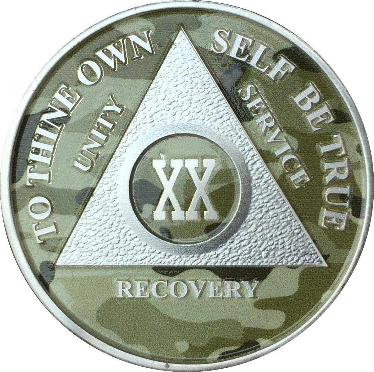 20 Año AA medallón chapado en plata de camuflaje camuflaje ...