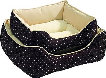 Cazador blanco lunares 44734 perro cama 40 x 40 cm: Amazon.es: Productos para mascotas