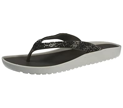 cc018d8c7 Ladies Diamante Crystal Toe Post Slip On Low Wedge Flip Flop Sandals Size  3-8