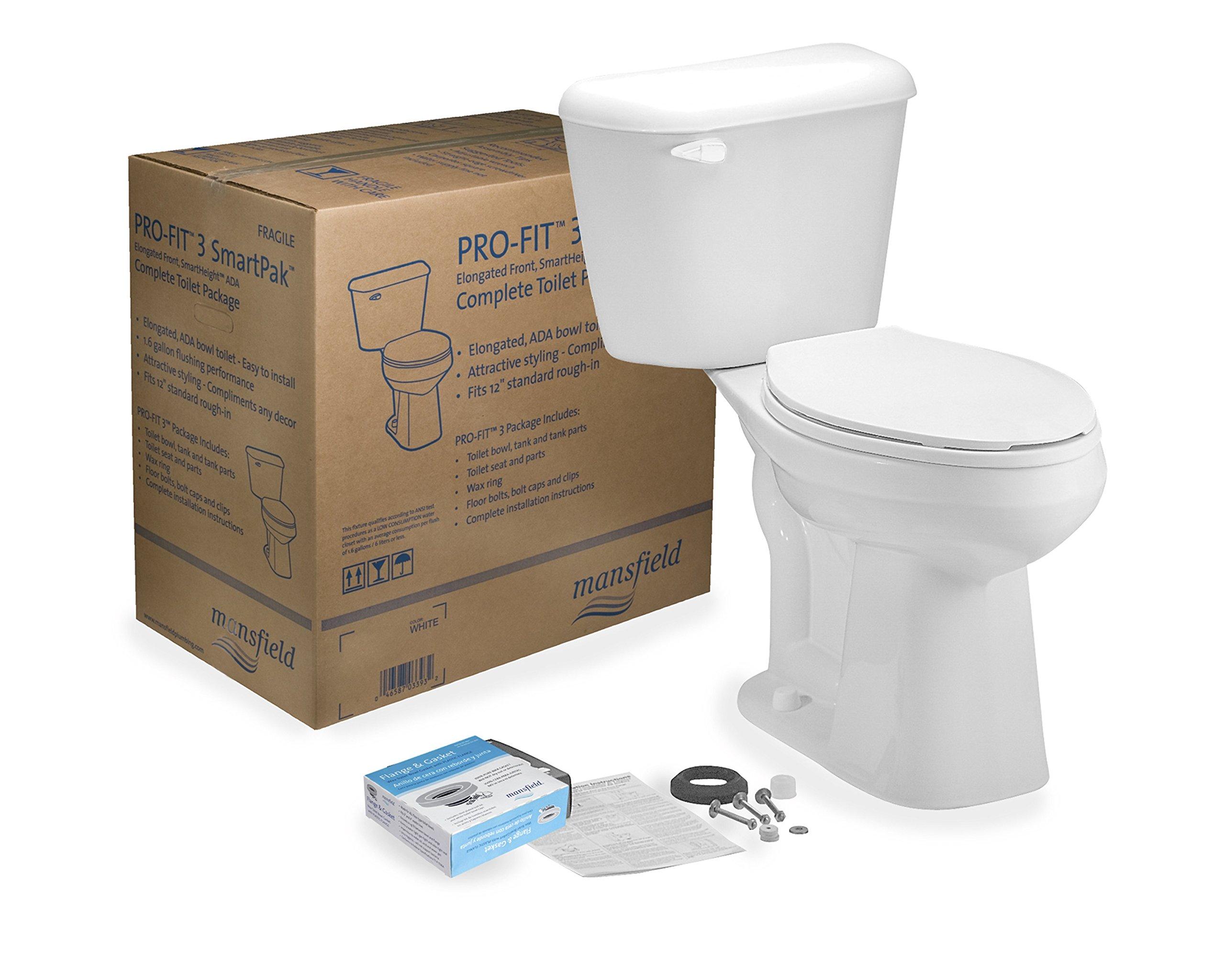Centoco 4137ctk Mansfield Pro-Fit 3 Ada Toilet Flush in a Box, 1.28 GPF