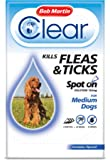 Bob Martin Flea Clear Fipronil Spot on 3 Tube for Medium Dog