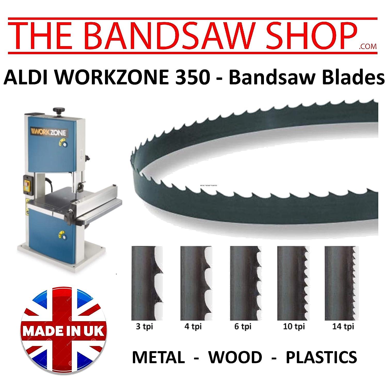 WORKZONE 350W Bandsaw Blades 1400mm x 1/4' (6mm) (1400mm x 1/4' (10 TPI))