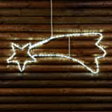 Stella cometa in tubo luminoso LED con Flash, 95 cm, led bianco freddo, stelle luminose, figure natalizie, luci di Natale
