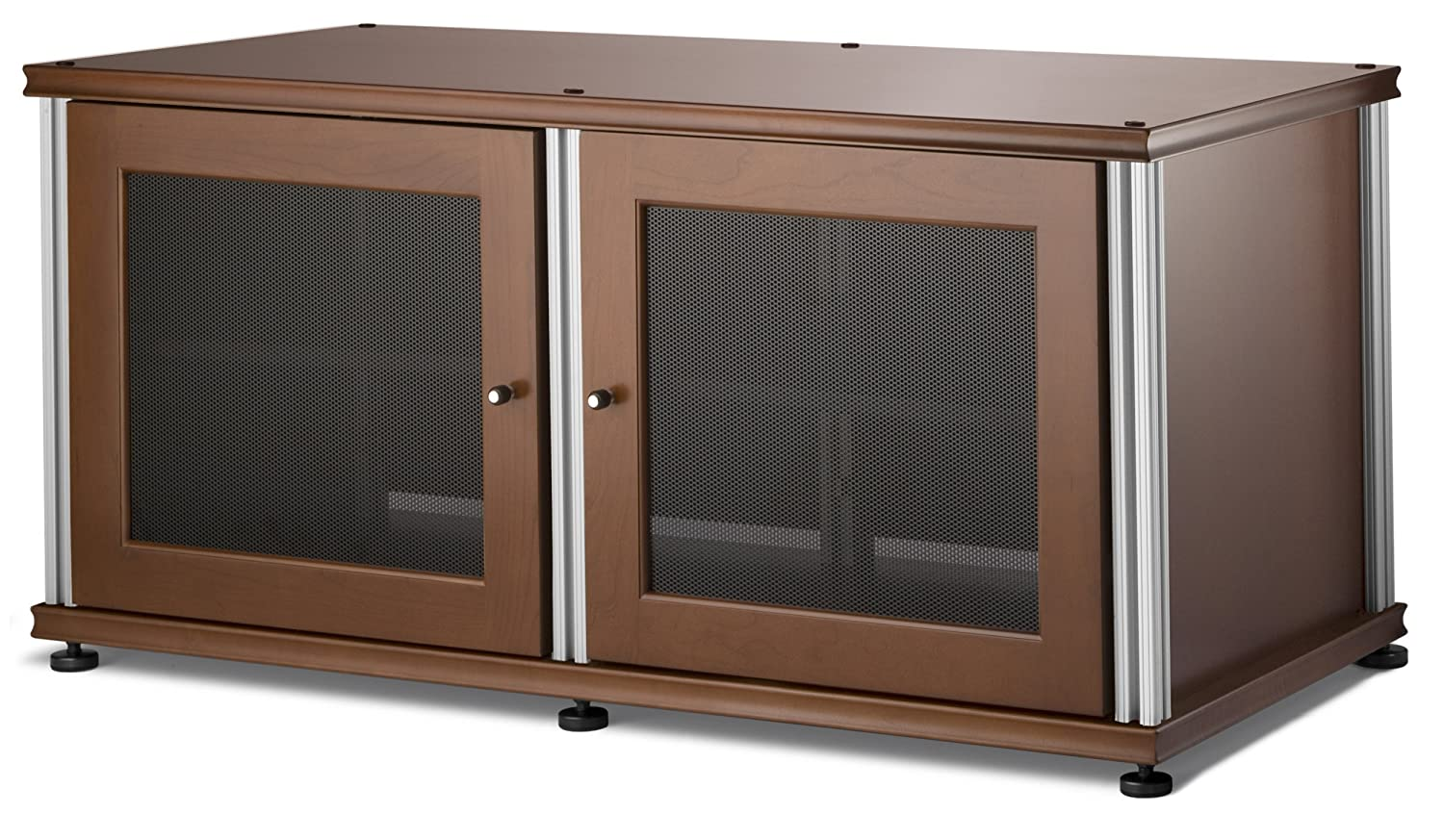 Salamander Synergy 221 Two-Shelved A V Cabinet Cherry Silver