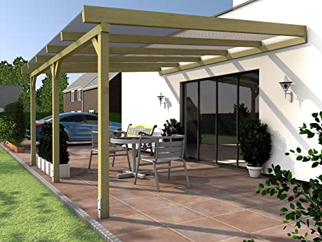 Rügen I Pérgola para terraza acristalada 500 x 400 cm pérgola para terraza: Amazon.es: Jardín