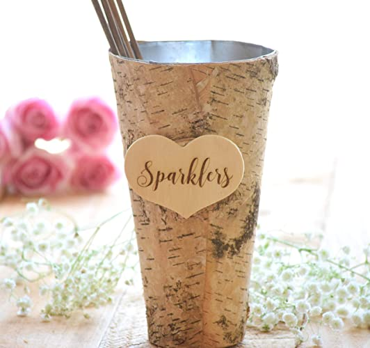 Sparklers For Wedding.Wedding Sparklers Holder Rustic Wedding Large Sparkler Bucket Long Wedding Sparklers Sparklers Pail Wedding Sparklers