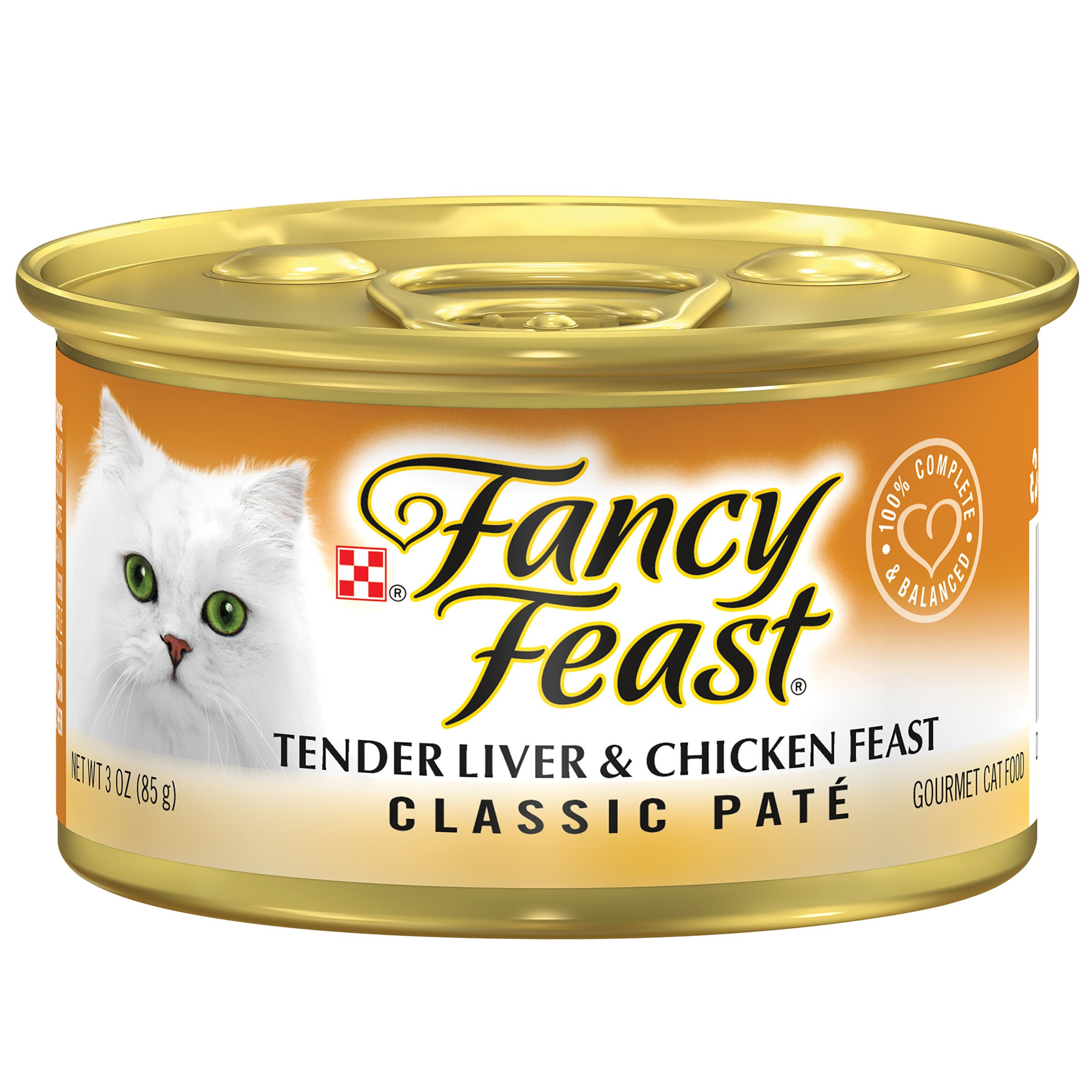 Purina Fancy Feast Classic Tender Liver & Chicken Feast Cat Food - (24) 3 oz. Pull-top Can