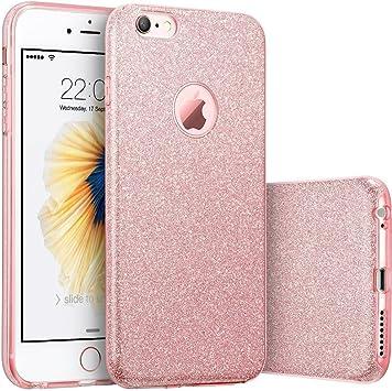 iPhone 6 Coque, iPhone 6s Coque paillettes, Noir Citron Bling Cristal Brillant Bumper de protection en caoutchouc souple Mallette de maquillage avec ...
