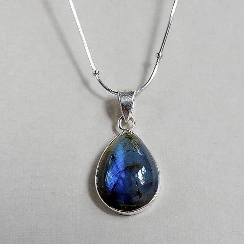 Amazon Gemstone Necklace Labradorite Dainty Necklaces