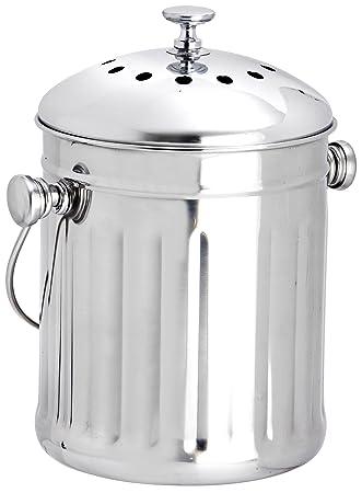 Eddingtons Mini Tisch Tee Komposteimer/Abfalleimer, Edelstahl, 2,25 ...