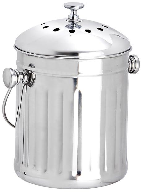 Eddingtons Mini Tisch Tee Komposteimer/Abfalleimer, Edelstahl, 2 ...