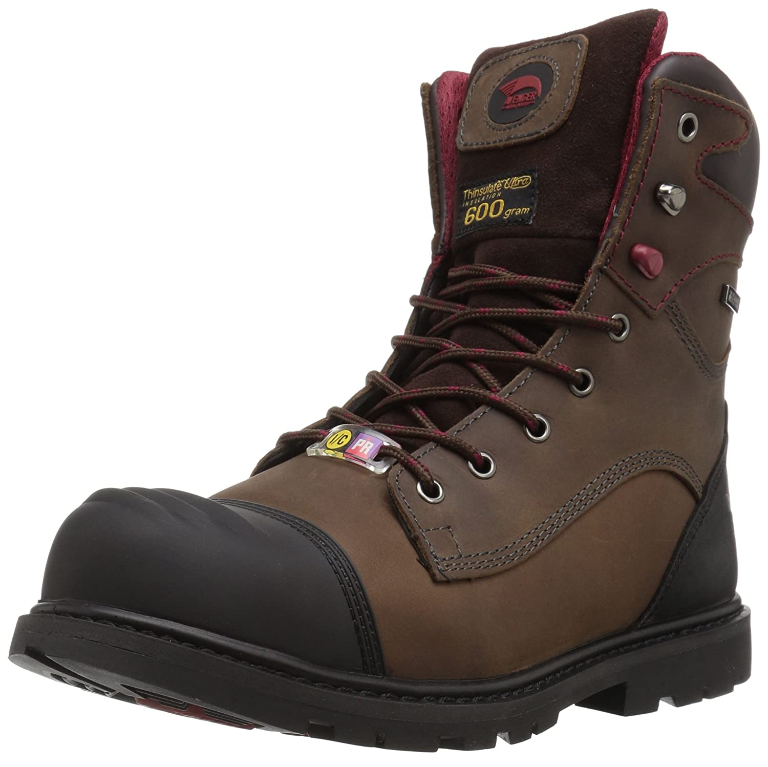 Avenger Safety Footwearメンズ7573断熱防水Comp Toe Puncture Resistant EH Work Boot工業と建設Shoe ブラウン 9.5 D(M) US 9.5 D(M) USブラウン B01781VQTM