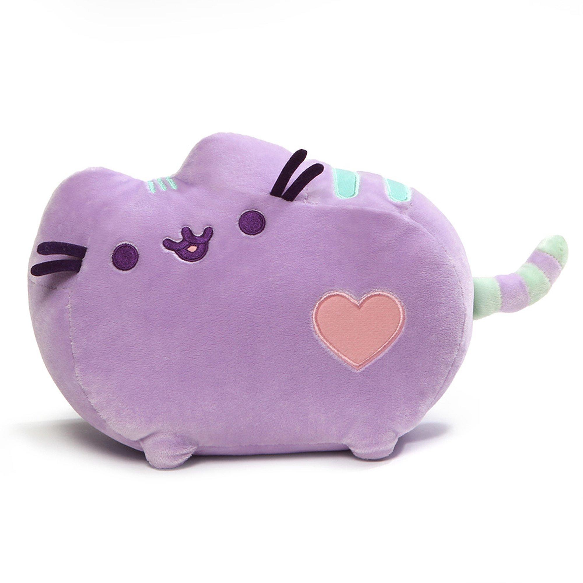 GUND Pusheen Heart Pastel Cat Plush Stuffed Animal, Purple, 12'' by GUND