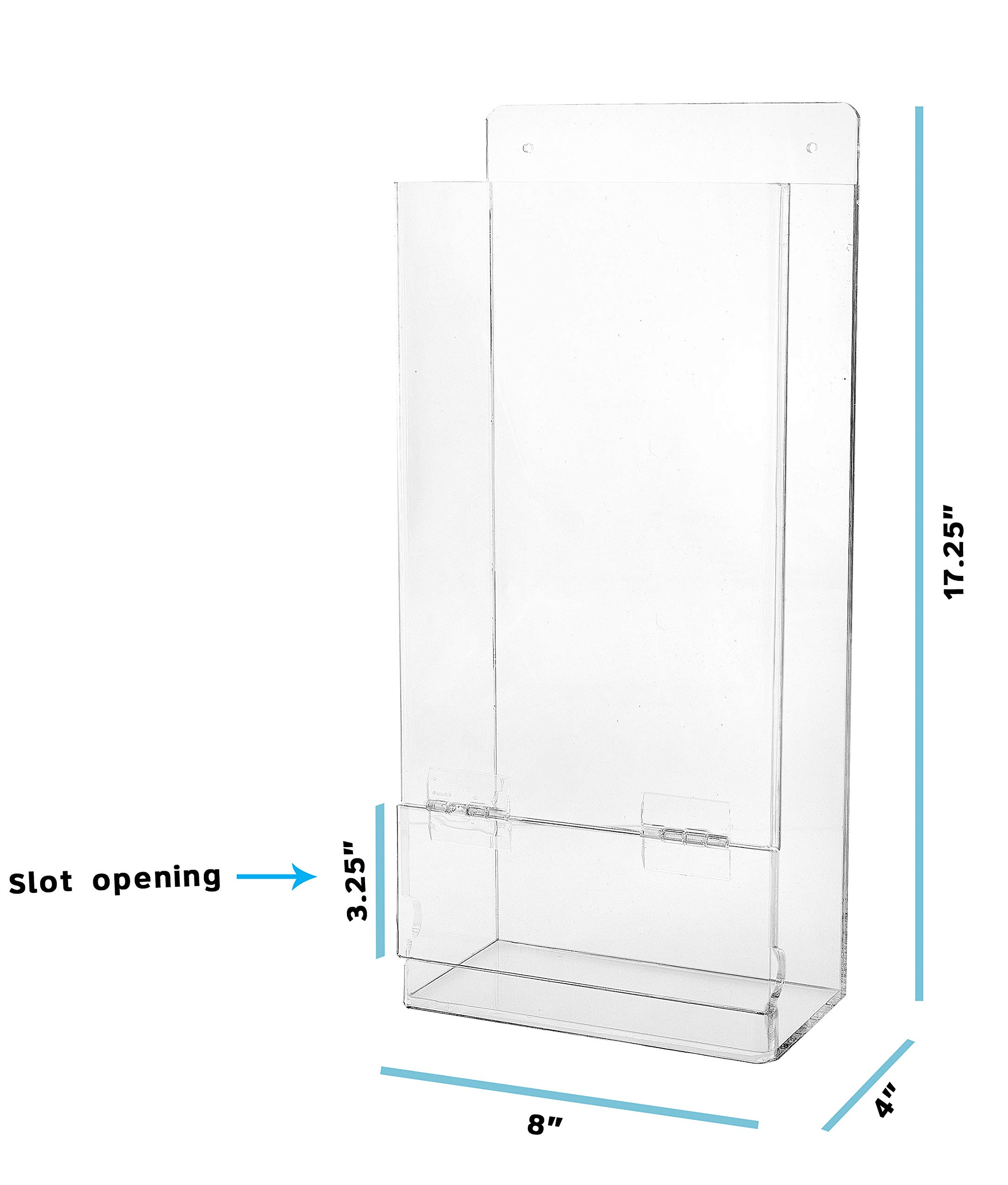 AdirOffice Safety Glasses and Glove Dispenser - Column Type Wall Mounted Acrylic Receptacle - Easy Access Organizer for Laboratory & Workplace Use by AdirOffice (Image #5)