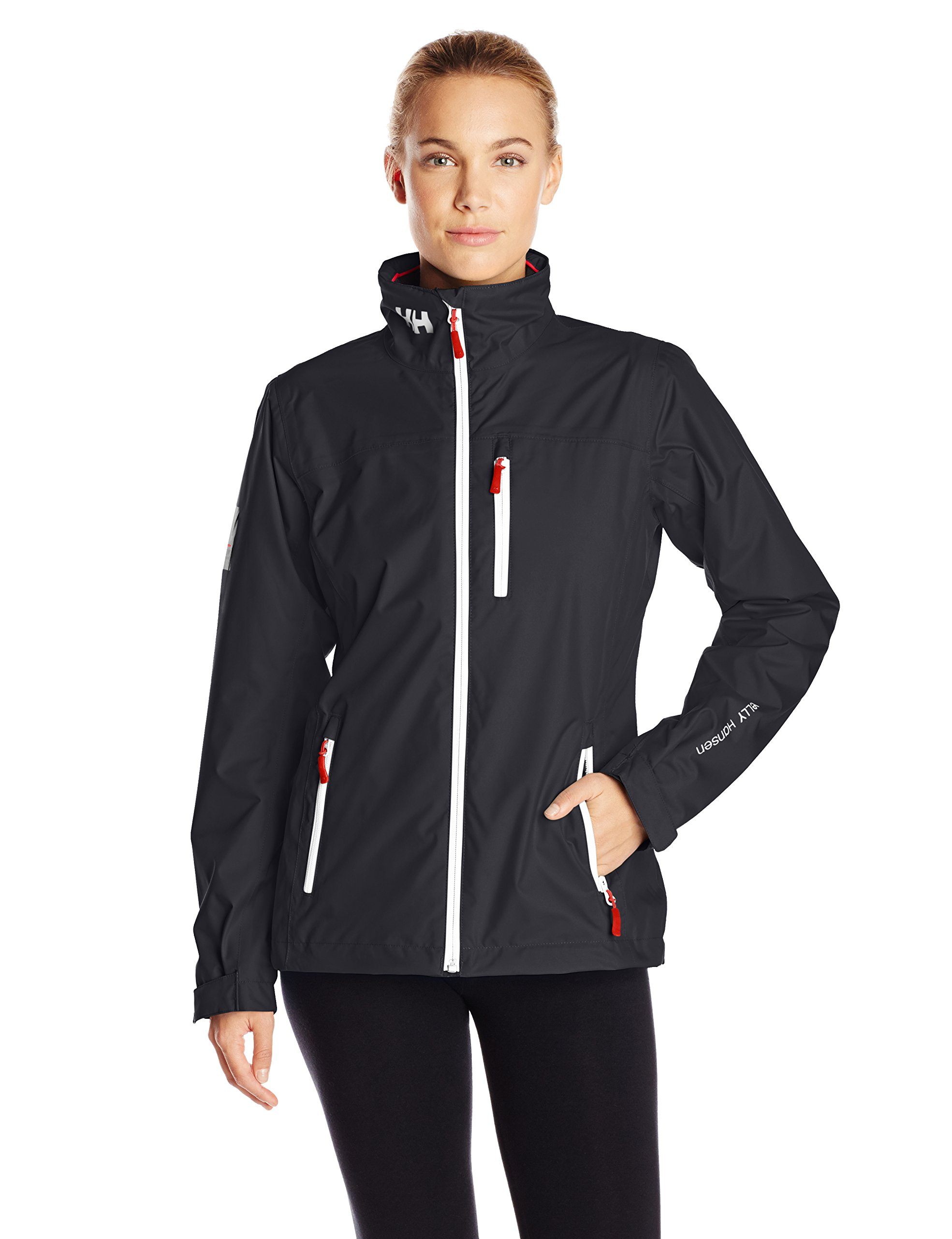 Helly Hansen Women's Crew Midlayer Jacket, Navy, Medium