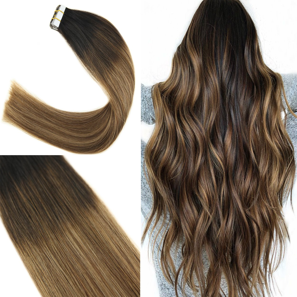 Youngsee Balayage Tape in Extensions,100%