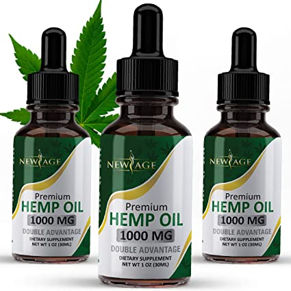 Amazon.com: (3 Pack) Hemp Oil, 1000mg of Hemp, Grown & Made in The USA by  New Age: Health & Personal Care